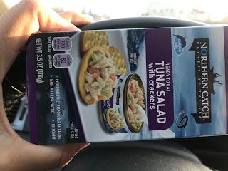 Tuna or Tuna salad is a great road trip food.